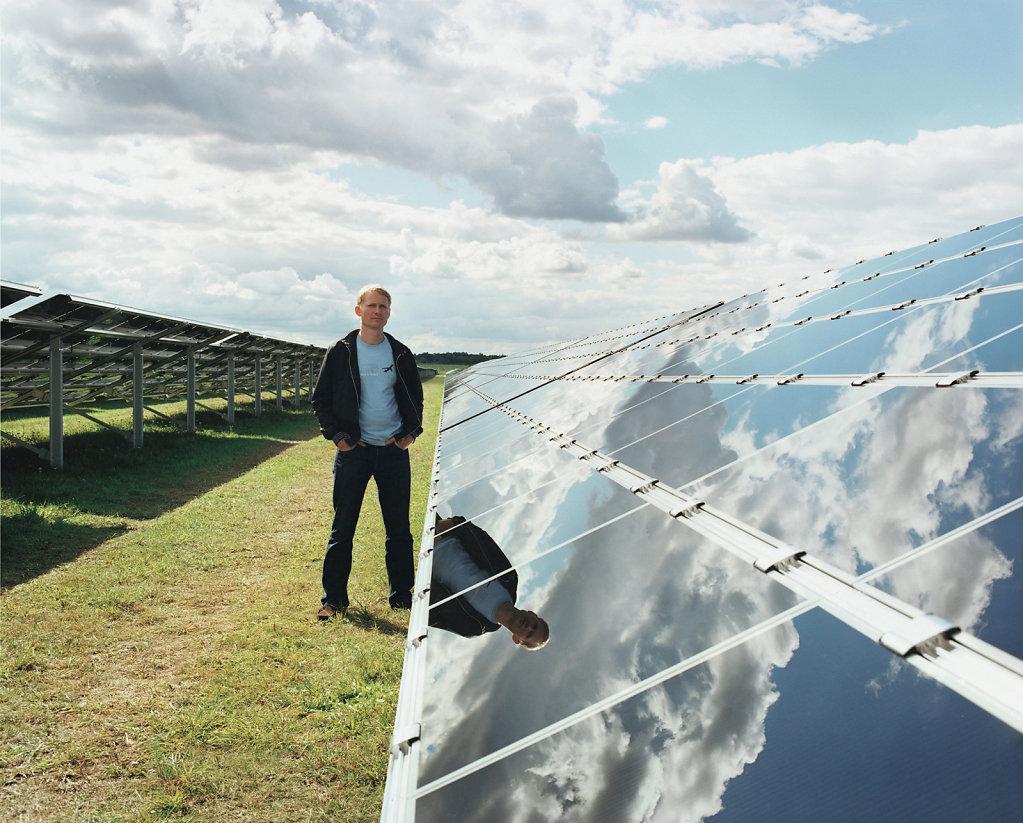 David Schnell, painter, solar energy park, Waldpolenz (DE), 09/07