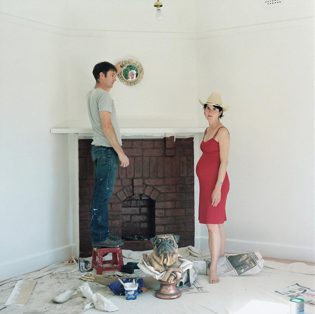 Robert Bridgewater and Kate Mac Caughey, sculptors, Daventry Street, Melbourne (AU), 01/05 (inspired by «Arnolfini Wedding», Jan van Eyk)