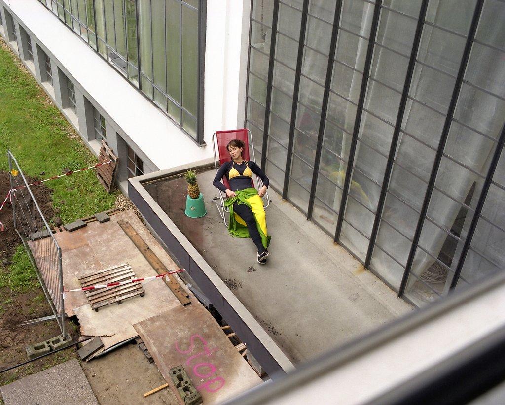 Luisiana, Bauhaus-student and architect, canopy/north wing, Bauhaus Dessau, 05/06
