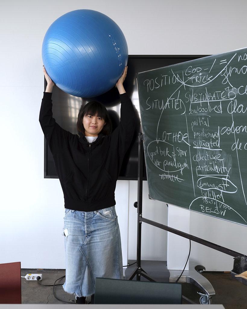 Chihiro, Bauhaus Design student, main building, Bauhaus Dessau, 12/18