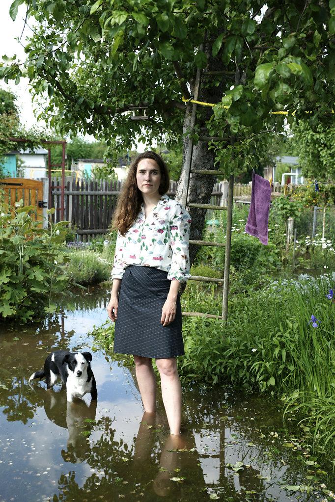 Isabell Dutoit, Malerin, mit Menne, Leipzig (DE), 06/13